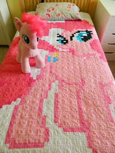 My Little Pony Quilts - Neatorama all 6 main ponies plus Luna and ... : pony quilt - Adamdwight.com