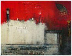 Karol Vallée - Red on Shanghai Bay - Contemporary Abstract Art - Abstract Painter - Abstract Painting
