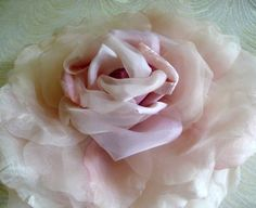 SALE Extra Large Silk and Velvet Rose Pale Pink Ivory Blush Shaded Millinery Flower for Hats Bridal Gowns Weddings Home Dec Fascinators