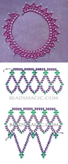 Free pattern for necklace Junona