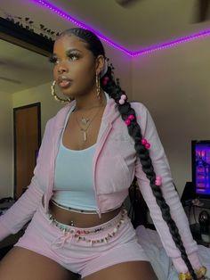 Formal Hairstyles For Long Hair, Black Girls Hairstyles, Pretty Black Girls, Beautiful Black Women, Sleek Ponytail, Ponytail Styles, Black Girl Aesthetic, Baddie Hairstyles, How To Pose
