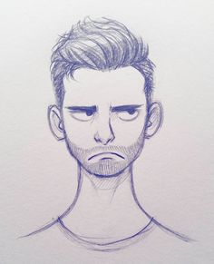 Quick little Sunday head doodle. #sketch #doodle #drawing #art #illustration #facialexpressions #cameronmarkart
