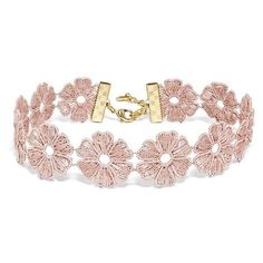 Women's Baublebar Daisy Choker (100 BRL) ❤ liked on Polyvore featuring jewelry, necklaces, accessories, bracelets, chokers, pink, pink necklace, flower jewellery, flower jewelry and choker jewelry