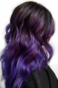 Hair Color 2018 Check out our photo gallery featuring the trendiest balayage hair color ideas. Get inspiration for your next hair color experiment. Discovred by : Love Hairstyles Copper Balayage, Purple Balayage, Hair Color Balayage, Purple Ombre, Haircolor, Purple Brown Hair, Dark Purple, Dark Brown, Hair Color 2017