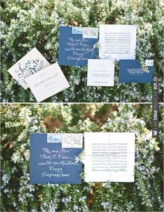 blue wedding invites | VIA #WEDDINGPINS.NET