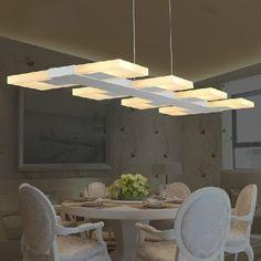 Moderne LED Droplights Carré Long Pendentif Lumières Montage À La Maison Intérieur Éclairage Restaurant Cafés Pub Café Magasins Les Luminaires Lampes(China (Mainland))
