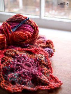 yarnaway: a crochet scrapbook: phoenix scarf