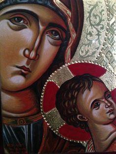 "© Babis & Flora  ""Μητέρα του Θεού "" ""Mother of God"" 16 x 21 cm"