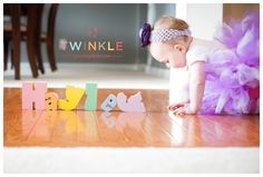 What a cute idea!!! First Birthday Shoot by Twinkle Photography.