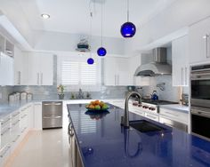 Find This Pin And More On Kitchen Kitchen Mesmerizing Blue Quartz Countertop