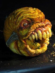 Scary Pumpkin Carving for Halloween