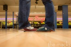 This couple went on a first date to a bowling alley! | Garden Bowl | Detroit Engagement Photos | Engagement Photography | The Macks | Detroit, MI