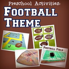 Hundreds of easy crafts & activity ideas for having fun with Preschool age children. Letter Activities, Class Activities, Craft Activities For Kids, Classroom Activities, Classroom Ideas, Toddler Football, School Football, Football Themes, Creative Curriculum
