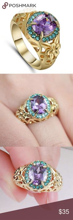 S6 10KT YELLOW GOLD F PURPLE AMETHYST RING S6 10KT YELLOW GOLD F PURPLE AMETHYST RING  Ring Size: Size 6   Stone:AAA  Clear Lab created Amethyst   Condition: 100% Brand New and High Quality! Jewelry Rings