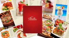 Check this out! Beautiful maroon cover and 35 new dishes inside! #NewMenu appeared today at #Fiorella:)
