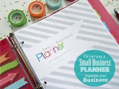 Small Business Planner PDF Printable Pages - INSTANT DOWNLOAD - Small Business and Etsy Business Planner