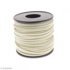 Cordón terciopelo - 3 mm - Beige - Por 1 m (a medida) - Fotografía n°1