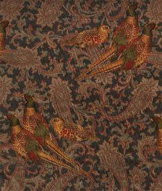 Ralph Lauren Hunting Manor Paisley Sable Fabric | onlinefabricstore.net