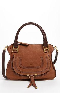 Chloe 'Marcie - Small' Nubuck Leather Shoulder Bag Oak