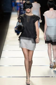 #MFW - Runway: #Fendi Spring 2014 Ready-to-Wear Collection