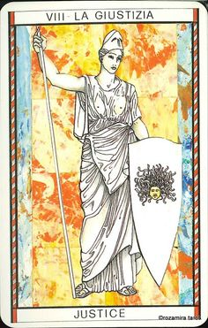VIII. Justice - Tarocco Mitologico by Amerigo Folchi