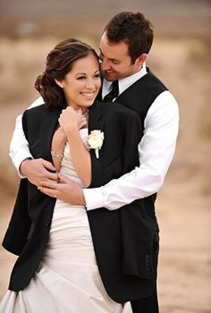 Adorable! I love when my man give me his coat so I can stay warm, then wraps his arms around me!!! Great picture