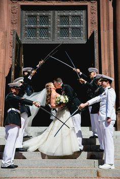 #VeteransDay   'Saber Arch' Military Wedding Tradition | Beauty 'N the Bride | Bridal Hair by Ramona | Lauryn Prattes Styling | k. thompson photography, LLC https://www.theknot.com/marketplace/k-thompson-photography-llc-alexandria-va-418018