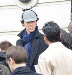 Benedict Cumberbatch shooting Sherlock series 3: The Empty Hearse