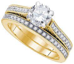1 5/8 Total Carat Weight DIAMOND 1 Carat-CRD BRIDAL SET.