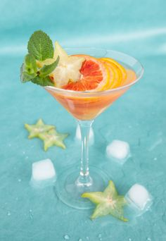 Just looking at this one makes you crave the cool, sweet and sour taste of a citrus-based cocktail.