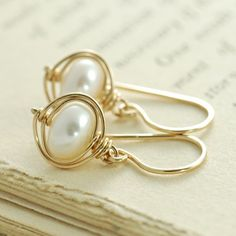 Pearl Earrings Jewelry Wire
