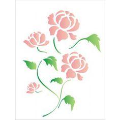 Spring flowers stencil decorating with stencils pinterest stencil de estamparia pesquisa google mightylinksfo