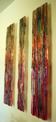 Cindy Brandt, glass weave wall piece | Glass - Art | Pinterest ...