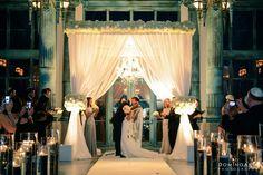 Ashley and Michael's wedding day @Flagler Museum in #Miami Florida. #DominoArts #Wedding #Photographer #Bride #Groom #Chuppah (www.dominoarts.com)