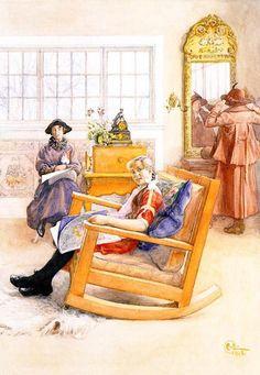Hat Fitting Carl Larsson (1853 – 1919, Swedish)