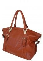 Chantalle Levesque -- Women's Stylish Brown Leather Tote $105.95