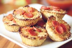 Mini Cauliflower Pizza Bites for a Healthy SuperBowl Party finger food