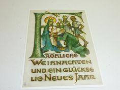 """vintage unused  greeting cards  ARS SACRA   B.I.Hummel """"merry christmas""""449"""""""