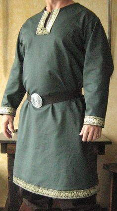Medieval Celtic Viking Long Sleeves Shirt by MorganasCollection