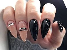 Latest trends of fashion manicure seasonal trends, ideas, beautiful nail designs – Nail Ideas Latest Nail Designs, Black Nail Designs, Winter Nail Designs, Beautiful Nail Designs, Cool Nail Designs, Nail Swag, Plaid Nails, Exotic Nails, Pointed Nails