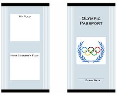 Olympic Passport for Kids Cover