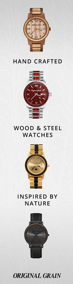 What sets you apart? It's all in the grain. Handcrafted wood & steel watches, starting at $149 and Free Shipping Worldwide!