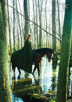 Eowyn riding in the Fens of the Entwash at the river's confluence with the River Snowbourne.