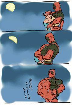 Hehe. Spider-Man & Deadpool. Spideypool. <3