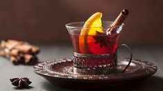 I'm checking out a delicious recipe for Fruit-Filled Mulled Wine from Kroger! Thanksgiving Drinks, Christmas Drinks, Holiday Drinks, Fruity Red Wine, Mouth Watering Food, Winter Drinks, Mulled Wine, Red Apple, Fine Dining