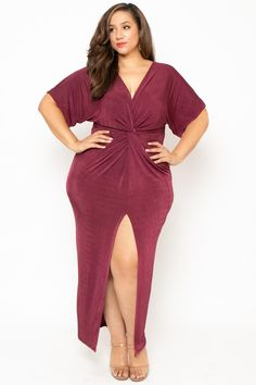 ff0db3eca76aa Final Sale Plus Size One Sided Off the Shoulder Ruffle Dress in Hot ...