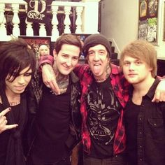 Michael Vampire, Mitch Lucker, Austin Carlile and Danny Worsnop