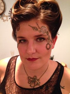 Steampunk makeup and hair