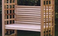 Pin it :-) Follow us :-)) zGardensupply.com is your Garden Supply Gallery ;) CLICK IMAGE TWICE for Pricing and Info SEE A LARGER SELECTION of arbors at  http://zgardensupply.com/category/garden-supply-categories/garden-structures/arbors/ - garden, gardening, gardening gear -  Western Red Cedar Wood Outdoor Garden Bench « zGardenSupply