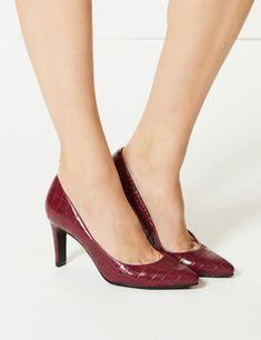 Stiletto Heel Pointed Skin Tone Court Shoes -m&s Court Shoes, Stiletto Heels, Kitten Heels, Skin Tone, Stuff To Buy, Shopping, Collection, Fashion, Moda